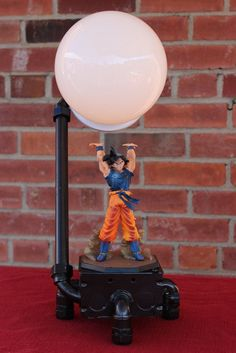 The original goku spirit bomb dragon ball z lamp, or son goku lamp. Find out where buy this piece of dragon ball z merchandise. Geek Home Decor, Old Dragon, Dragon Ball Z, Portable Tent, Gamer Room, Room Setup, Light Decorations, Creations, Room Decor