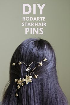 DIY Rodarte Inspired Star Hair Pins Tutorial from Hello Whimsy here. I like this tutorial so much because it transforms cheap plastic buttons, has really good instructions, and shows you lots and lots of options on how to make it your own. You can also check out the DIY Cluster of Stars Hair Clip that has a different feel to it here.