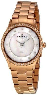 Relógio Skagen Women s 347SRXR Denmark White Mother-Of-Pearl Dial Watch   relogio   cf087c5760