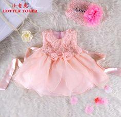 Vestido de bautizo nuevo borm sin mangas niña de cumpleaños vestido de tutú bebe recién nacido 0-2 años niña vestido de verano envío gratis(China (Mainland))