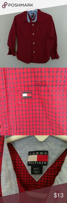 Tommy Hilfiger Toddler Button Up! Great for back to school! Tommy Hilfiger Shirts & Tops Button Down Shirts