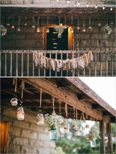 Mason Jar Wedding Decorations from @Judy Clark chicks