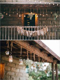 Mason Jar Wedding Decorations from @wedding chicks