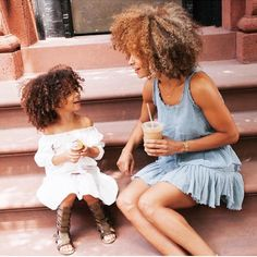 ***Try Hair Trigger Growth Elixir*** ========================= {Grow Lust Worthy Hair FASTER Naturally with Hair Trigger} ========================= Go To: www.HairTriggerr.com ========================= Mommy and Daughter Rocking their Big Natural Curly Fros!!!! LOVE IT!!!!