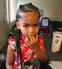 Braids Little Girl Kids Hairstyles Trenzas De Niñas Peinados - hairstyles trenzas girl hairstyles trenzas de lado Little Girl Braids, Black Girl Braids, Braids For Kids, Girls Braids, Kid Braids, Little Girl Braid Styles, Toddler Braids, Tree Braids, Ghana Braids