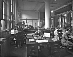 H. P. Labelle & Cie. office interior, Montreal, QC, 1920 by Musée McCord Museum, via Flickr