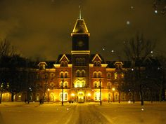 University Hall at Night <3  One of my favorite places on Ohio State campus