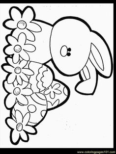 Easter Coloring Pages | free printable coloring page Easter Coloring Bunny2 (Cartoons ...