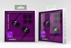 EX882 exspect headphones packaging design  by  @mmordecai