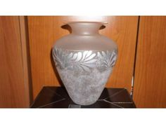 Vaso in vetro decorato - 35 cm