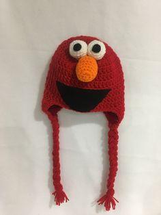 031eaef01042b Elmo inspired crochet hat (Sesame Street)