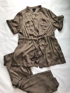 e5b8ad0be7d Lane Bryant 2 Piece Set Outfit Tunic Top Blouse Pants Plus 22 24 Free  Shipping