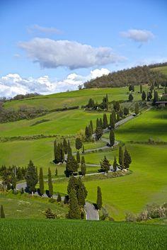 Monticchiello, Val d'orcia, Tuscany, Italy
