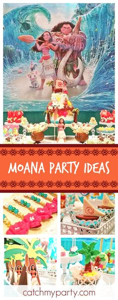 Take a look at this incredible Moana birthday party. The backdrop and balloon decorations are amazing!! See more party ideas and share yours at CatchMyParty.com