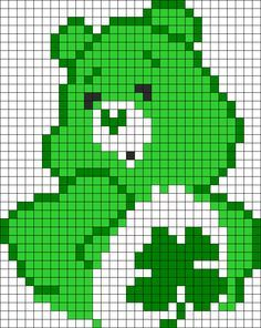 Good Luck Bear Care Bears Perler Bead Pattern | Bead Sprites | Characters Fuse Bead Patterns