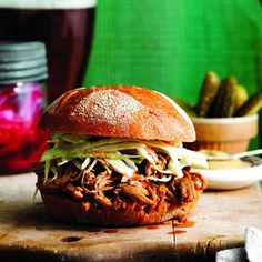 pulled pork with ginger bourbon sauce