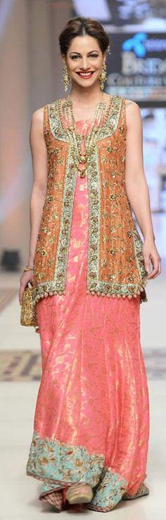Uzma Babar Telenor Bridal Couture Week 2014 Shehnai Collection #bridalcollections #bridaldresses