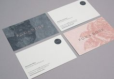 Fox & Rose + business cards + stationery + print