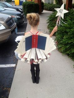 Book-fairy… Best costume ever. THIS I would do!