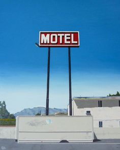 "Saatchi Art Artist: John Tierney; Oil 2014 Painting ""Motel off 10 freeway, CA"""