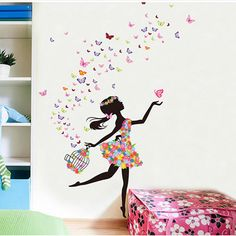 Butterfly bedroom fashion modern decorative mural girl room wall sticker for home decor childrens accessories ideas . Girl Bedroom Walls, Wall Decals For Bedroom, Girl Wall Decals, Modern Wall Decals, Mural Wall, Bed Room, Girl Room, Kids Room Wall Stickers, Flower Wall Stickers
