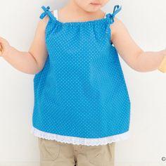 簡単手作り!夏らしい子ども用のキャミソール&ワンピースの作り方(子ども服) Polka Dot Top, Tops, Women, Fashion, Moda, Fashion Styles, Fashion Illustrations, Woman