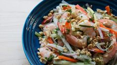 Ollie Irene's Vietnamese Ginger-Lime Shrimp Salad from Tasting Table Chef Recipes, Seafood Recipes, Asian Recipes, Healthy Recipes, Ethnic Recipes, Shellfish Recipes, Good Food, Yummy Food, Tasty