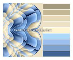 Pale Blue Cream Wall Art Soft Blue Beige Neutral Home Wall