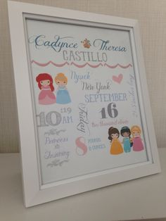 Personalized star wars framed 8x10 subway art print birth stats personalized disney princess bedroom or playroom art jasmine aurora sleeping beauty belle negle Choice Image
