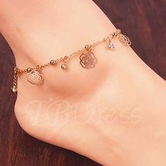 TBDress - TBDress Hollowed-Out Rose Womens Anklet - AdoreWe.com