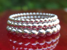 Heavy & Solid Set of 3 Handcrafted Sterling by tinyshinyones, $66.00