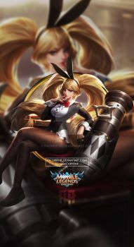 Wallpaper Phone Layla Bunny Babe by FachriFHR on DeviantArt Mobile Legend Wallpaper, Hero Wallpaper, Custom Wallpaper, Miya Mobile Legends, Game Character, Character Design, Moba Legends, Alucard Mobile Legends, Legend Games