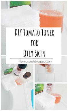 Green Beauty: Tomato Toner for Oily Skin | Sarah Farma
