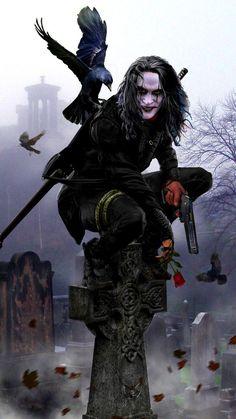The Crow movie crow Dark Fantasy Art, Dark Art, Horror Art, Horror Movies, Crow Movie, Bd Art, Crow Art, Joker Wallpapers, Iphone Wallpapers