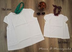Blusa Branca Básica Tal Mãe Tal Filha