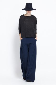 Totokaelo - Assembly New York - Wide Leg Gaucho Pants - Navy