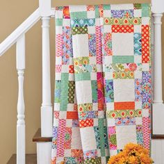 Grandma Mary's 5 patch made from scraps or a jelly roll.  I have this pattern