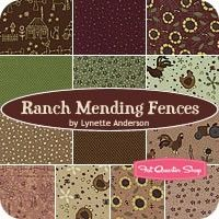 Ranch Mending Fences Fat Quarter BundleLynette Anderson for Lecien Fabrics