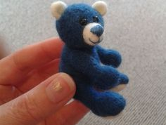"Needle Felted Teddy Bear - ""Bluebearry"" by Tatianascrafts on FELT"