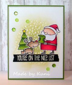 Kunis Bastelblog: eine Weihnachtskarte habe ich noch