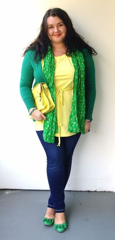 Świat Asi - Plus size blog: Green + Yellow