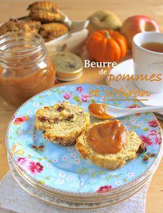 """Beurre"" de pommes et potiron (vegan) • Apple pumpkin ""butter""  #tartinade #automne #hiver #courge #citrouille #brunch #petitdéjeuner #breakfast #scones #spread"