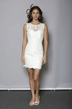 Short Wedding Dress. Very pretty, but I would like it slightly more form fitting