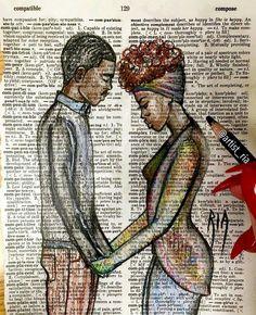 New Black Love Art Relationships God 58 Ideas Black Couple Art, Black Girl Art, Art Girl, Black Couples, Arte Black, Afrique Art, Natural Hair Art, Black Art Pictures, Art Africain