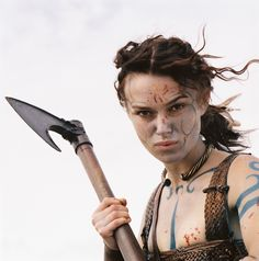 Photo: Guinevere (Keira Knightley) - Keira Knightley for King Arthur Female Warrior Costume, Female Armor, Warrior Queen, Warrior Princess, Woman Warrior, Viking Warrior, Medieval, Celtic Warriors, Female Warriors
