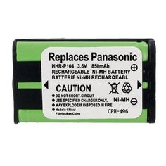 Radio Shack 23-908 Cordless Phone Battery 3.6 Volt, Ni-MH 850mAh - Replacement For PANASONIC HHR-P104 by Empire. $1.99. 3.6 Volt, Ni-MH 850mAh Replacement For PANASONIC HHR-P104 Cordless Phone Battery