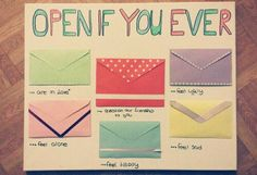 Open if you...