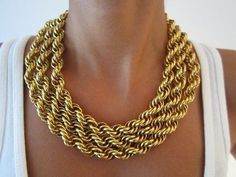 Gold #chains #necklace #goldhardware #jewelry #adornme