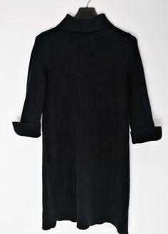 Warm midi black dress  #Winter #blackdress #secondhand