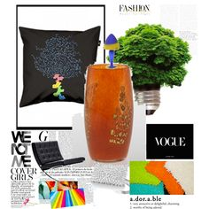 """mood board with pillow """"cholera flower"""" by www.ilsephilips.nl"""
